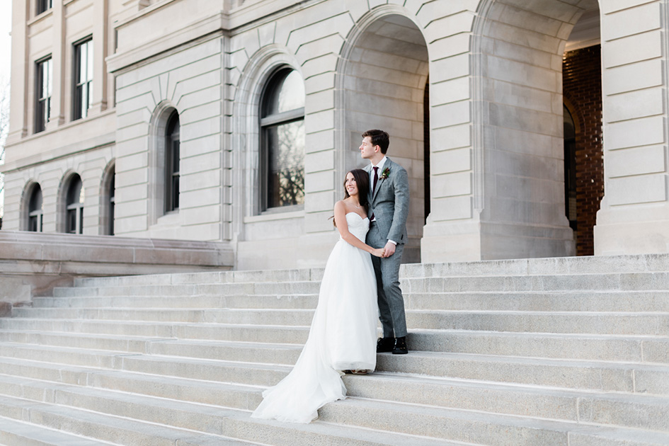 Kelsey and Brant celebrate their reunion after spending a year working apart with an elegant ceremony.